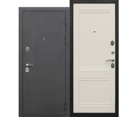 Металлическая дверь 10 см Троя муар Эш вайт Царга