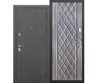 Металлическая дверь 10 см Троя Муар Палисандр темный