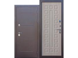 Металлическая дверь c терморазрывом Isoterma медный антик /лиственница мокко