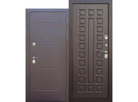 Металлическая дверь c терморазрывом Isoterma медный антик /Венге