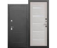 Металлическая дверь c терморазрывом Isoterma СЕРЕБРО / Лиственница беж