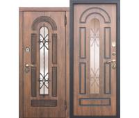 Металлическая дверь Vikont (Виконт) Грецкий Орех/Грецкий Орех