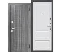 Металлическая дверь Гарда мдф/мдф Грей/Белый матовый Царга