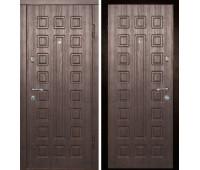 Металлическая дверь Дверной Континент ЛЮКС  МДФ/МДФ (10 мм/8 мм),цвет венге/венге
