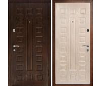 Металлическая дверь Дверной Континент ЛЮКС  МДФ/МДФ (10 мм/8 мм),цвет венге/белёный дуб