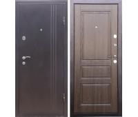 Металлическая дверь Дверной Континент Турин (орех)