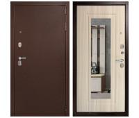 Металлическая дверь Дверной Континент Гарант-1 Зеркало Сандал белый