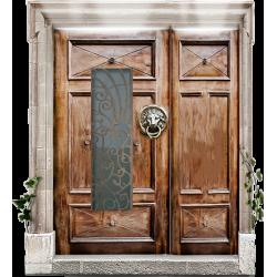 Двери двустворчатые стеклометаллические (Смотреть)