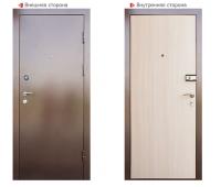 Металлическая дверь Логика Барьер (беленый дуб)