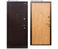 Металлическая дверь Логика Гранит М2 дуб