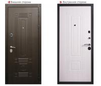 Металлическая дверь Логика Гранит Т2 белёный клён