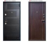 Металлическая дверь Логика Гранит Т1 венге