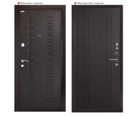 Металлическая дверь Логика Гранит М2 Люкс Венге