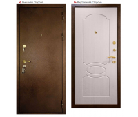 Металлическая дверь Логика ВИД-7 Лайт (беленый дуб)