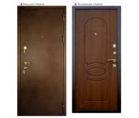 Металлическая дверь Логика ВИД-7 Лайт (грецкий орех)