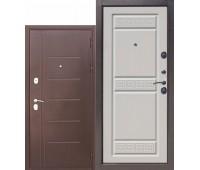 Металлическая дверь 10 см Троя Антик Белый Ясень