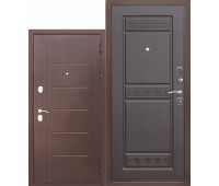 Металлическая дверь 10 см Троя Антик Венге