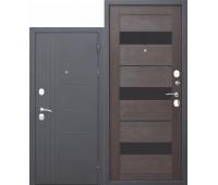 Металлическая дверь 10 см Троя Серебро Темный кипарис