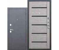 Металлическая дверь 10 см Троя Серебро Дымчатый дуб