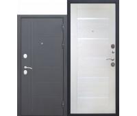 Металлическая дверь 10 см Троя Серебро Лиственница беж