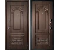 Металлическая дверь Дверной Континент Флоренция В Орех мокко/Орех мокко