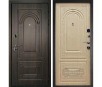 Металлическая дверь Дверной Континент Флоренция В Орех мокко / Дуб беленый