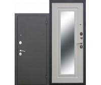 Металлическая дверь Царское зеркало Муар Белый ясень
