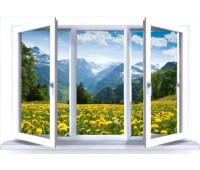 Окно Reachmont трехстворчатое 60 мм однокамерное