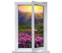 Окно Montblanc одностворчатое 70 мм однокамерное