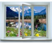 Окно Rehau трехстворчатое 60 мм однокамерное