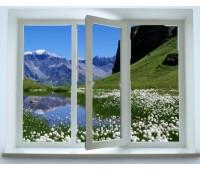 Окно Enwin трехстворчатое 60 мм двухкамерное