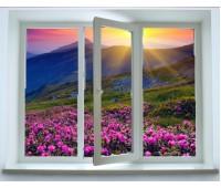 Окно Montblanc трехстворчатое 70 мм однокамерное
