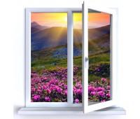 Окно Montblanc двухстворчатое 70 мм однокамерное
