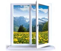 Окно Reachmont двухстворчатое 60 мм однокамерное