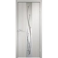 Межкомнатная дверь Velldoris SMART Z2 зеркало Дуб белый