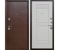Металлическая дверь 10 см Троя Медный Антик Белый Ясень