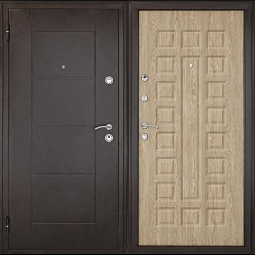 Металлическая дверь Форпост Квадро (Ель)