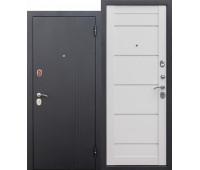 Металлическая дверь  7,5 см Нью-Йорк Царга Ясень белый эмаль